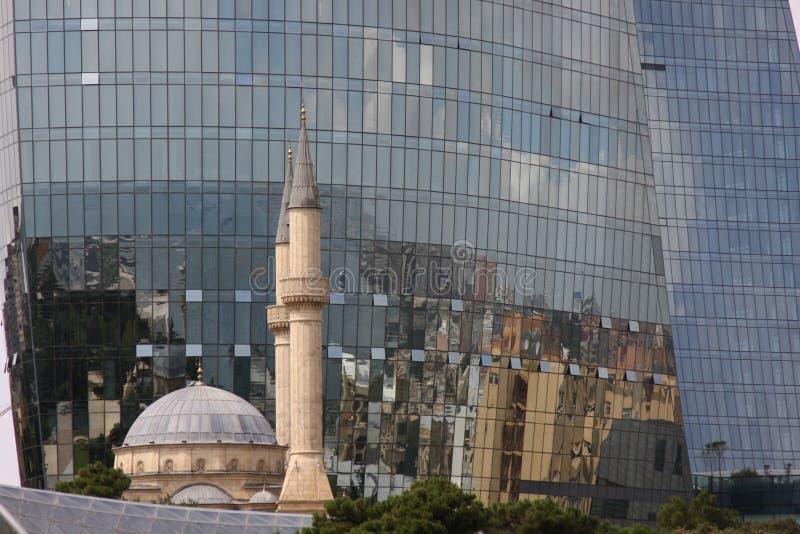 Contraste de Bakou image libre de droits