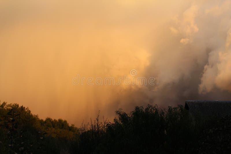 Contraste en un horizonte tempestuoso foto de archivo libre de regalías