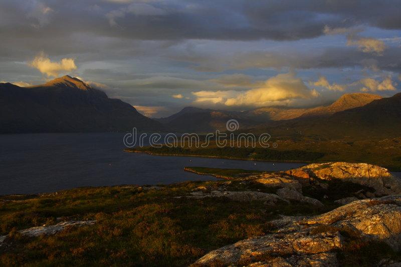 Contrasted Highlands stock photos