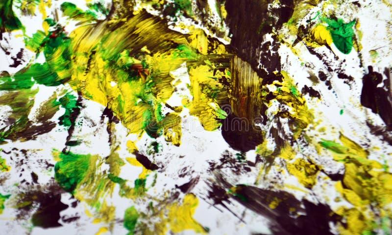 Contrastes amarelos cinzentos pretos, fundo da aquarela da pintura, fundo de pintura abstrato da aquarela imagem de stock