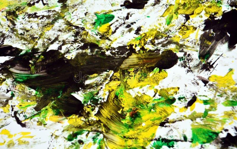 Contrastes amarelos pretos abstratos, fundo da aquarela da pintura, fundo de pintura abstrato da aquarela imagens de stock