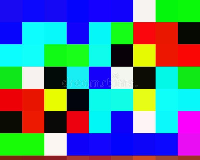 Contrastes, couleurs, les géométries abstraites vives de places, texture vive abstraite illustration de vecteur