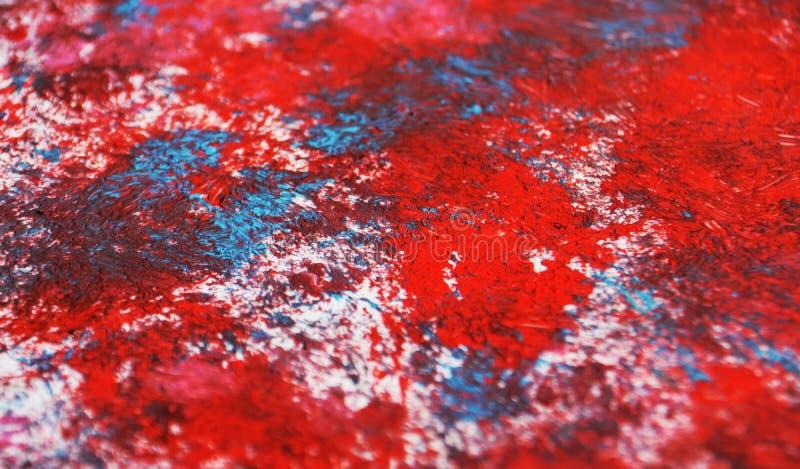 Contrastes macios azuis vermelhos do sumário, fundo da aquarela da pintura, fundo de pintura abstrato da aquarela fotos de stock