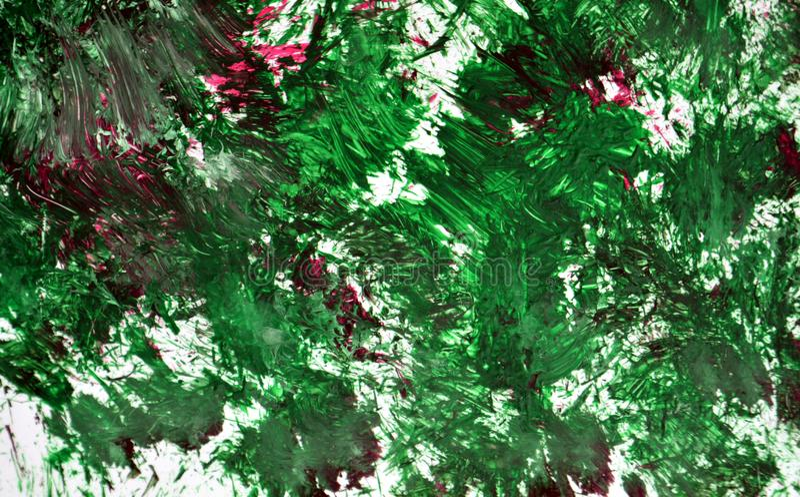 Contrastes suaves de la mezcla gris púrpura verde, fondo de la acuarela de la pintura, fondo de pintura abstracto de la acuarela fotos de archivo libres de regalías