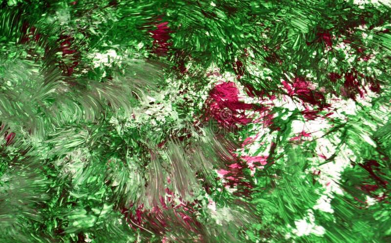 Contrastes suaves de la mezcla púrpura verde, fondo de la acuarela de la pintura, fondo de pintura abstracto de la acuarela imágenes de archivo libres de regalías