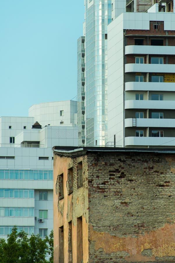 Contrastes urbanos imagem de stock