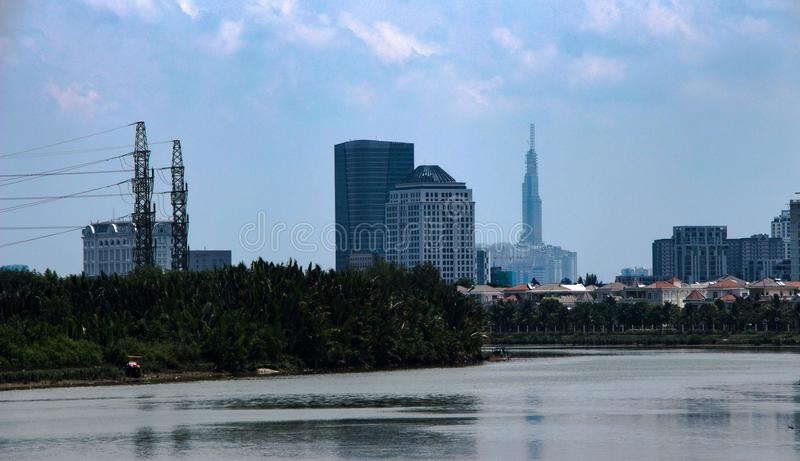 Contrasti del Vietnam Vista di Saigon fotografie stock libere da diritti
