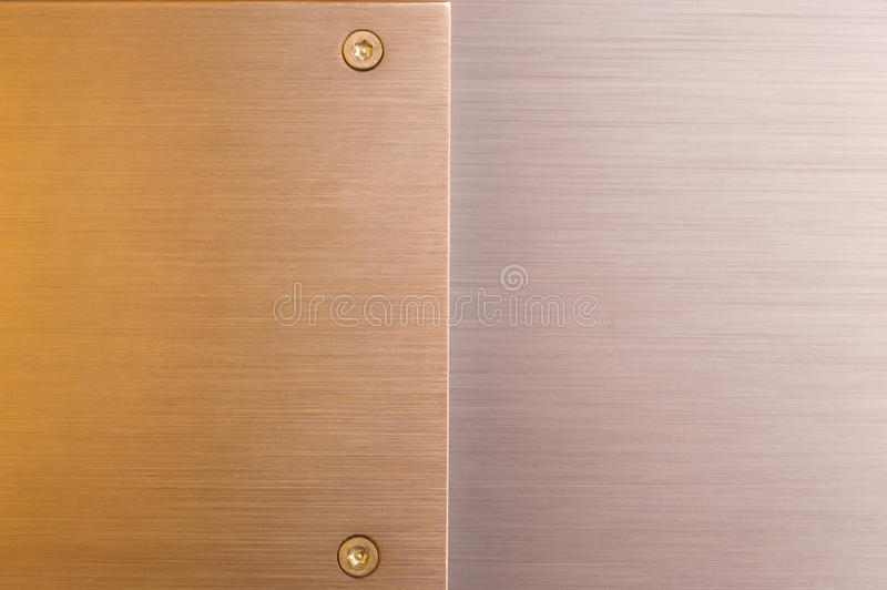 Contrasting brushed metals royalty free stock photo