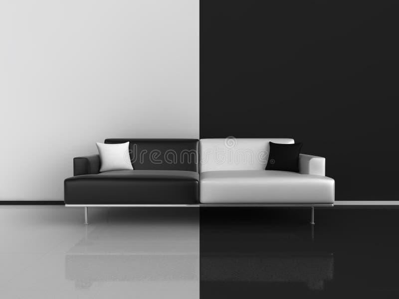 contrastsofa stock illustrationer
