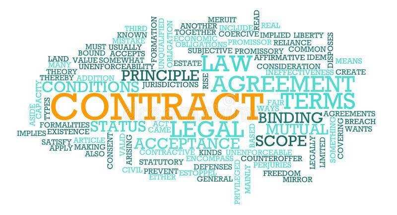 Contrat illustration libre de droits
