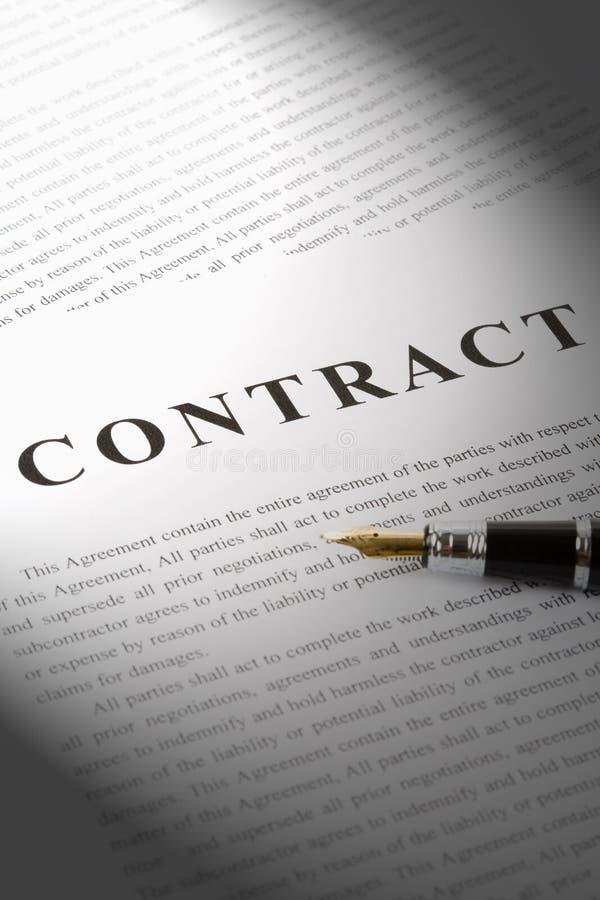 Contrat d'affaires photo stock