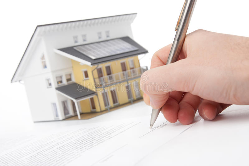Contrat d'hypothèque image libre de droits