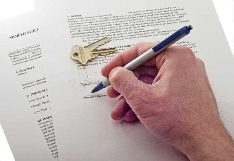 Contrat de signature images libres de droits