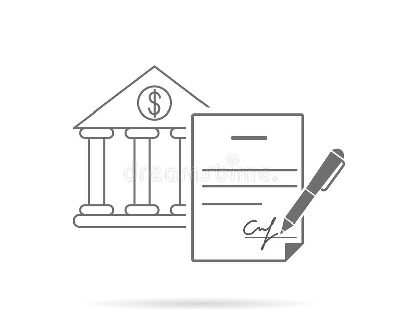 Contrat de signature illustration de vecteur