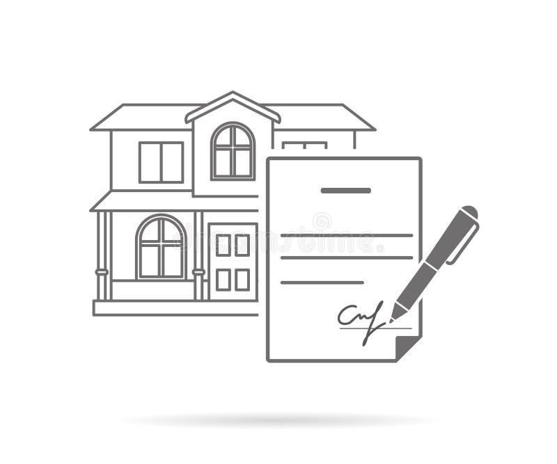 Contrat de signature illustration libre de droits