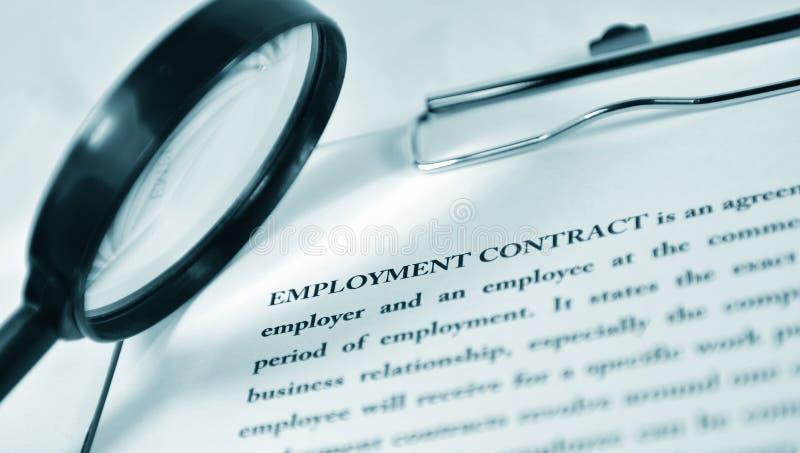 Contrat de travail images libres de droits