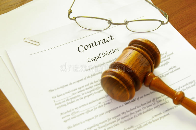 Contrat permissible photos stock