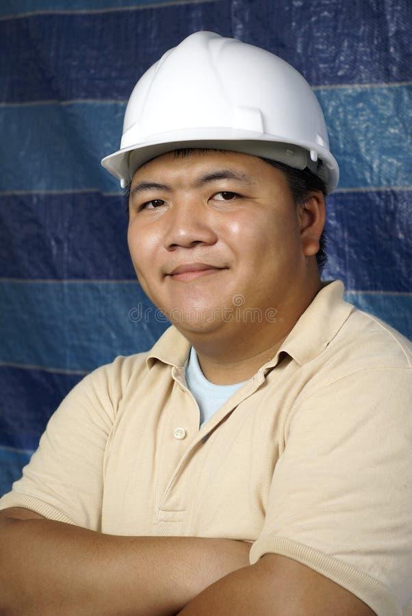 Contratante asiático de sorriso fotos de stock royalty free