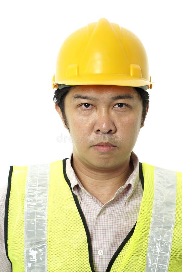 Contratante de construção asiático foto de stock