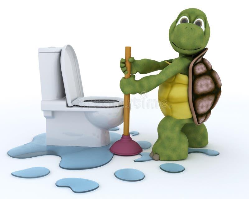 Contratante do encanamento da tartaruga ilustração do vetor