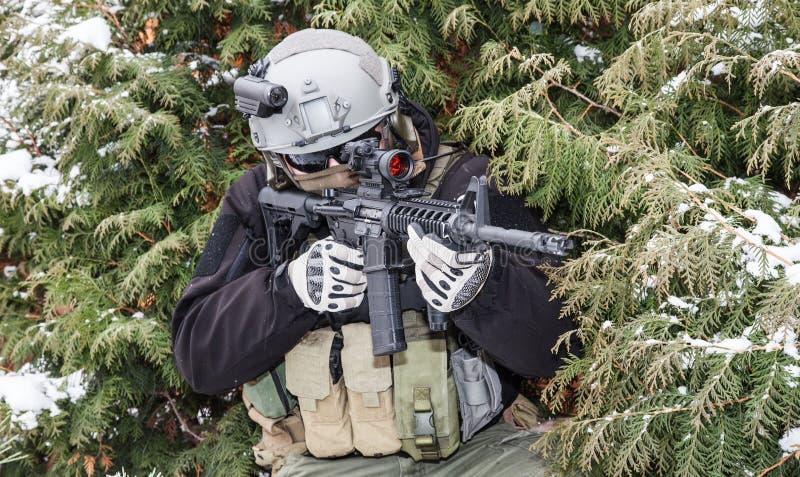 Contratante militar privado imagem de stock