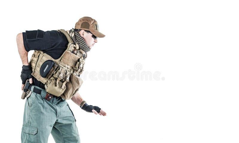 Contratante militar privado PMC imagens de stock