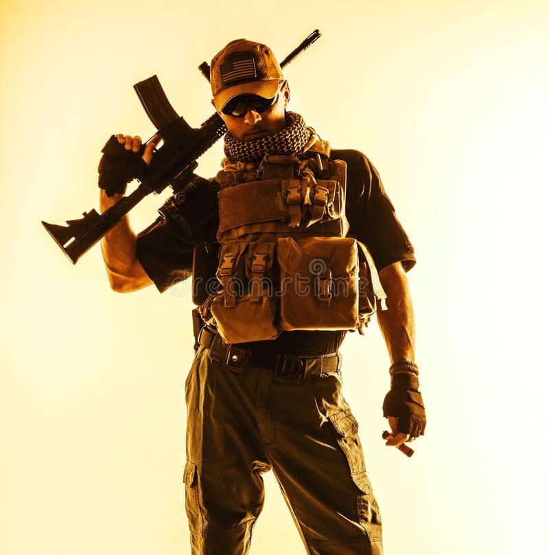 Contratante militar privado PMC foto de stock