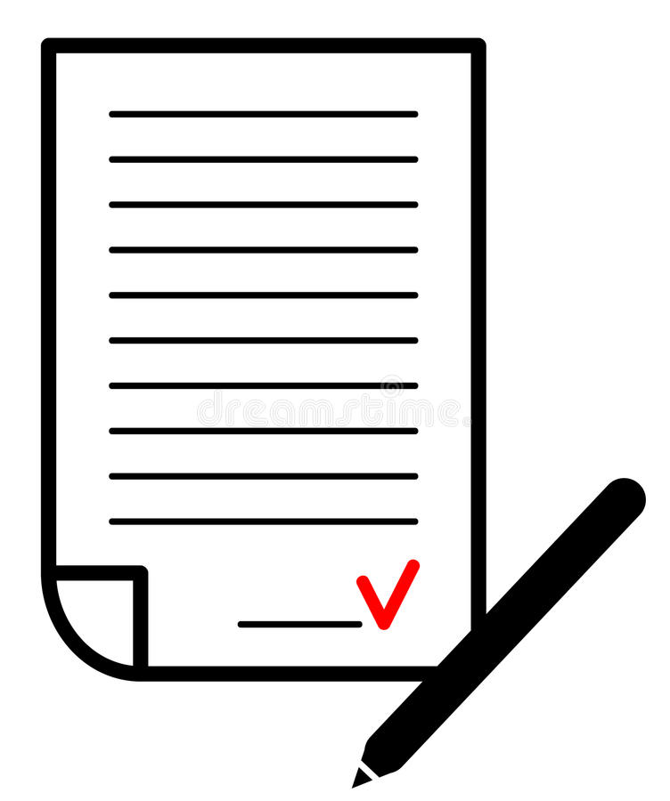 Contrato assinado. Ilustração do vetor ilustração stock