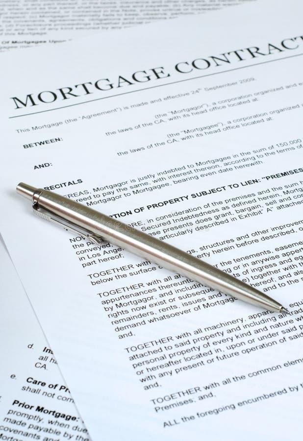 Contrato da hipoteca fotos de stock