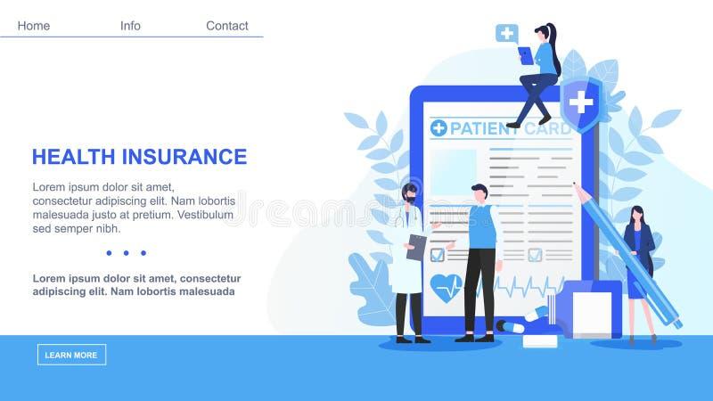 Contrato de seguro masculino do doutor Patient Sign Health ilustração royalty free
