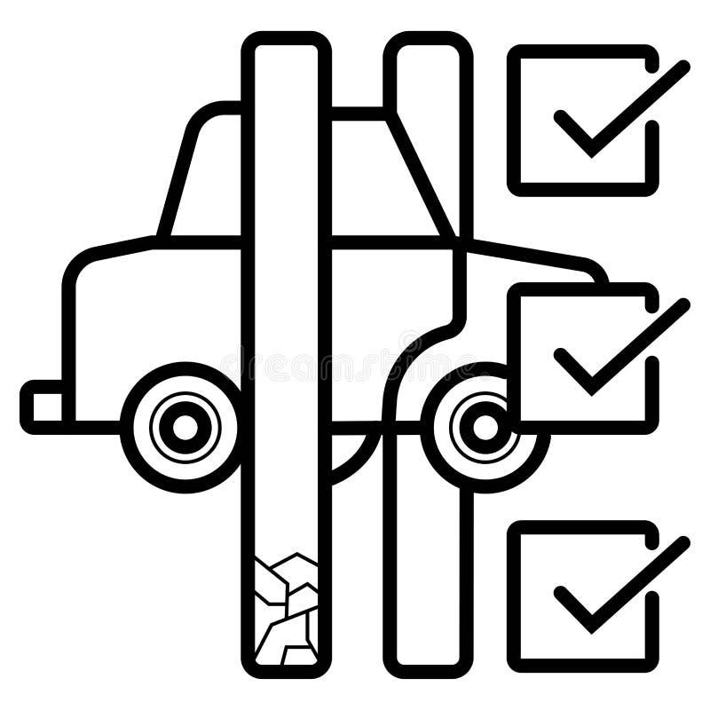 Contrato de servicio auto libre illustration