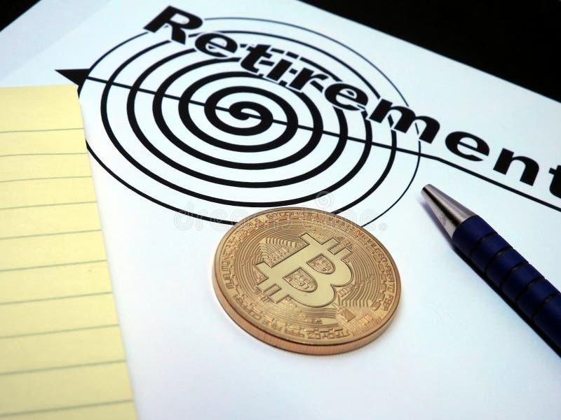 Contrato del retiro de Bitcoin foto de archivo libre de regalías
