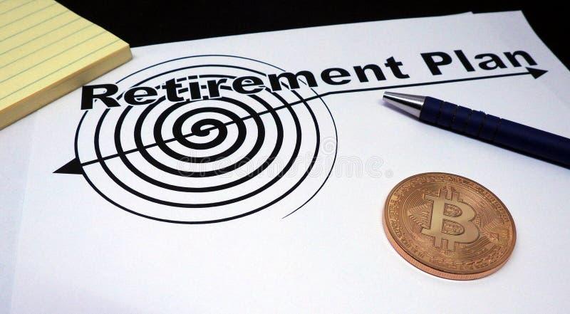 Contrato del retiro de Bitcoin fotografía de archivo libre de regalías