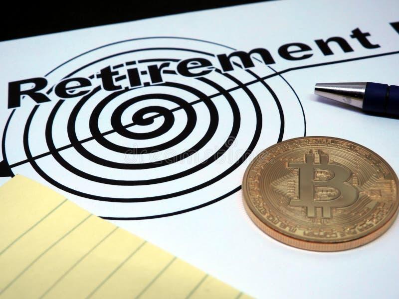 Contrato del retiro de Bitcoin imagen de archivo libre de regalías
