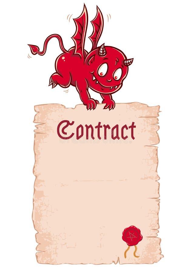 Contrato del ` s del diablo del vector libre illustration