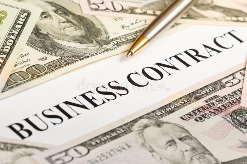 Contrato do negócio imagem de stock royalty free