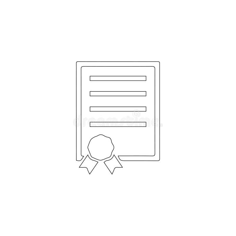 Contrato Icono plano del vector ilustración del vector