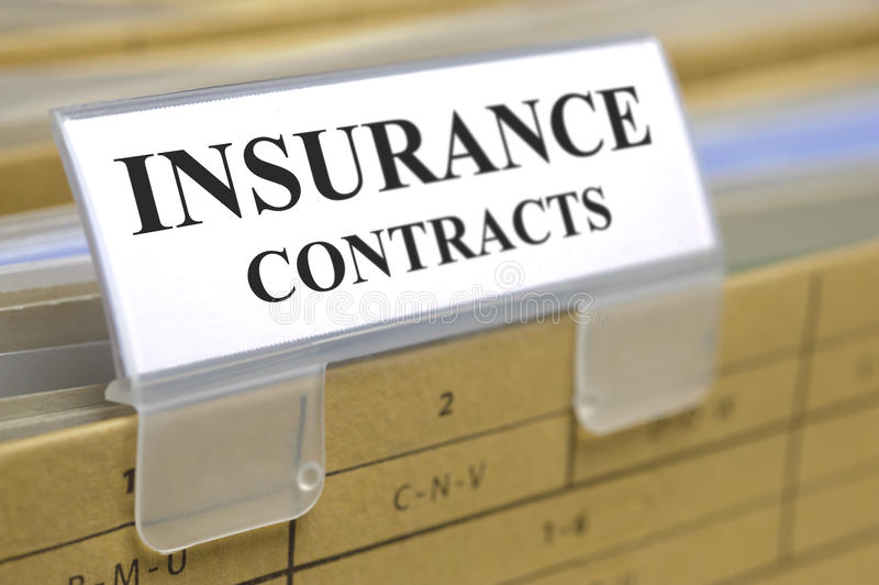 Contratos de seguro fotografia de stock