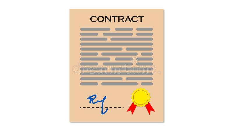 Contratto illustrazione vettoriale