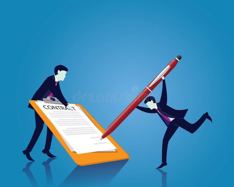 Contratto che firma concetto di accordo legale Illustrazione di vettore illustrazione vettoriale