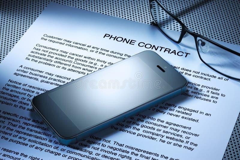 Contratto del telefono cellulare immagini stock