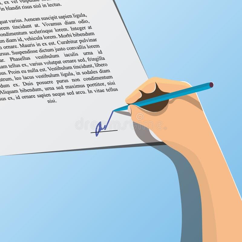 Contratto di canto illustrazione vettoriale
