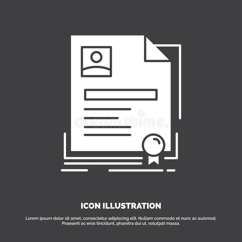 Contratto, distintivo, affare, accordo, icona del certificato r illustrazione vettoriale