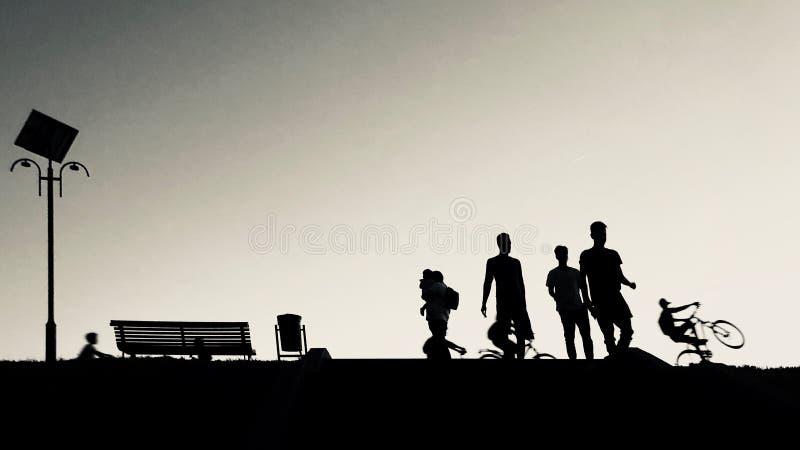 Contre-jour fotografi arkivbild