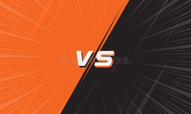 Contre l'écran orange et noir avec la ligne comique de bourdonnement illustration libre de droits