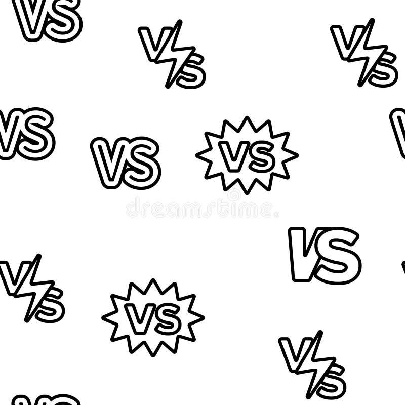 CONTRE l'abréviation, contre le modèle sans couture de vecteur illustration de vecteur