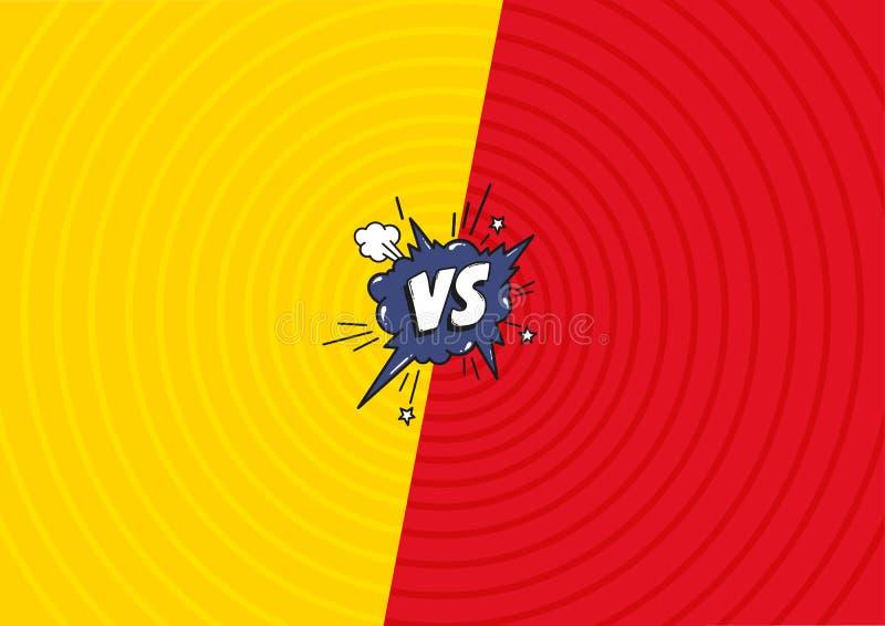 Contre le fond de combat de lettres Contexte comique décoratif avec l'explosif de bombe de bulle de la parole dans le style d'art illustration libre de droits