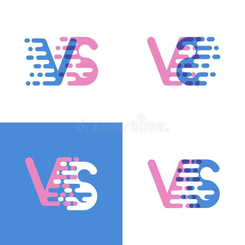 CONTRE le logo de lettres avec d'accent de vitesse le rose et doucement le bleu doucement illustration libre de droits
