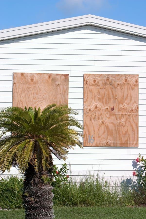 Contre-plaqué Panels5 de protection d'ouragan image stock