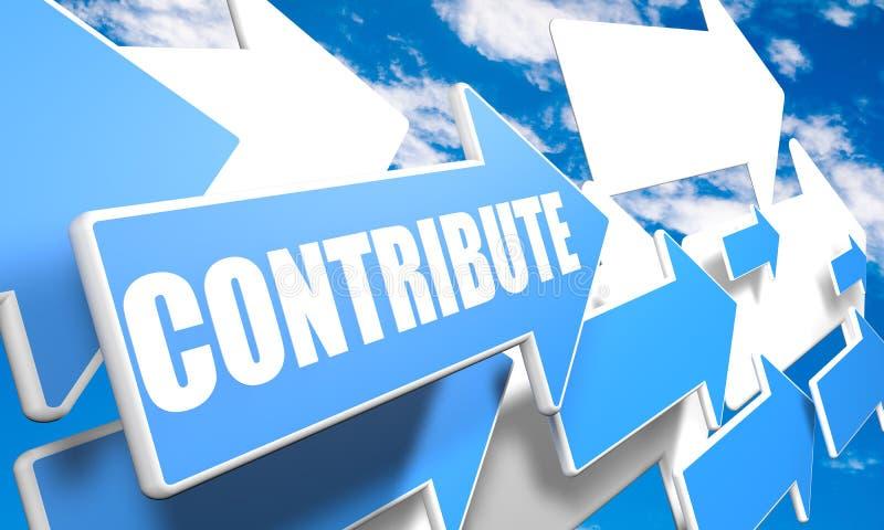 contribuez illustration libre de droits